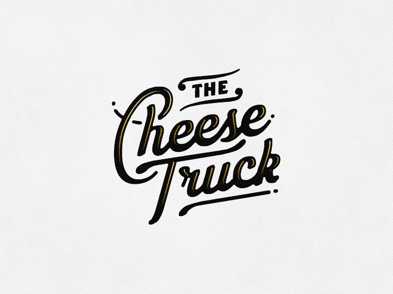 Cheese  food truck cheese script lettering branding logo