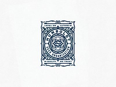 HSO Badge weed seed badge emblem logo vintage stamp monogram