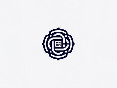 CC cross cc royal carbon rose monogram
