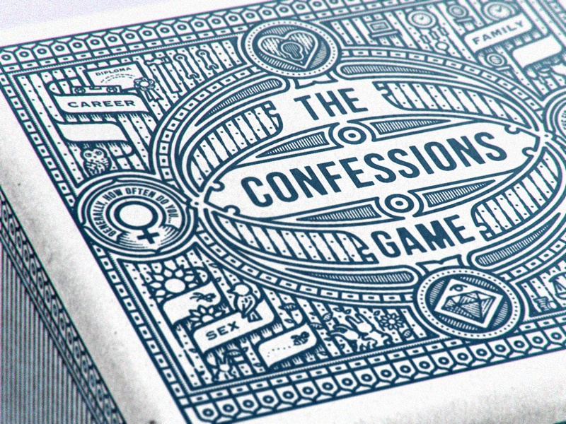 Confessions owl sex bunny fun woodcut packaging questions game