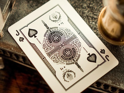 High Victorian Playing cards theory11 gold monogram flower floral etching playing cards