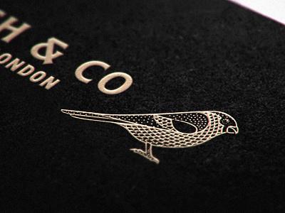 Bird Mockup engraving etching bird logo