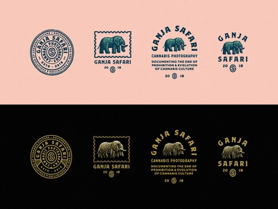 Elephant Group stamp branding vintage etch monogram badge elephant logo