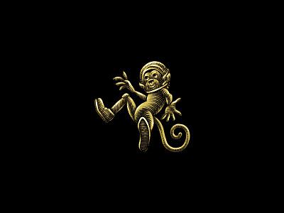 Space Monkey concept art animal logo cannabis space monkey engraving etching concept branding branding and identity