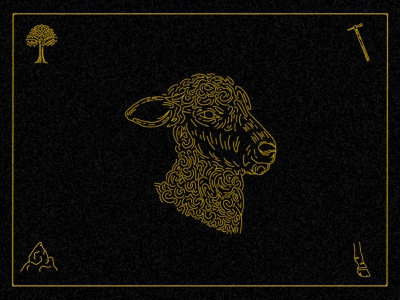 Lamb Illustration sheep food truck colorado denver sigil sigils illustration esoteric occult lamb vintage engraving etching line work linework