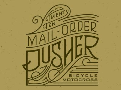 Pusher Mail-Order flourishes victorian retro ornate vintage bikes bmx logo