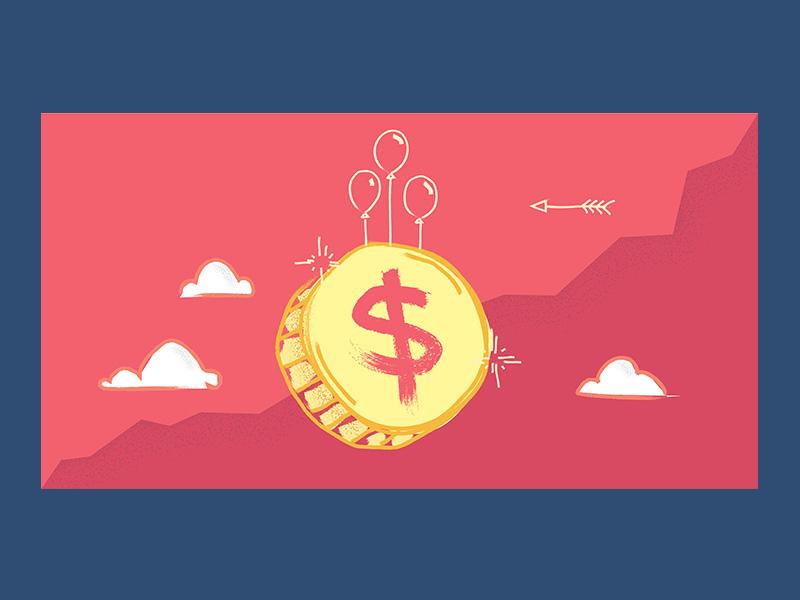 Financial Crisis recession crash business textured sky concept brush texture forecast money economy coin dollar finance crisis