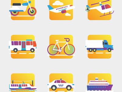 Free transportation icons