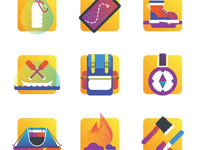 Free outdoor camping icons