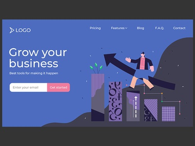 Growth concept landing page