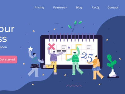 Planning abstract landing page illustration