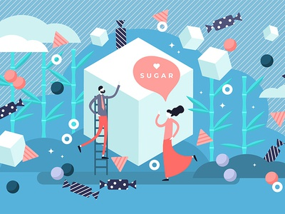 Sugar sweets concept