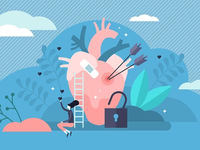 Vulnerable Heart Concept