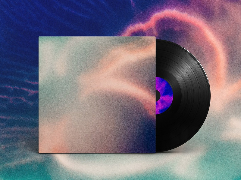 медуза - Album Cover vector logo icon neon geometry light space abstract flower album gradiant album cover design album cover cloud album artwork album art illustration design color kev andré perrin