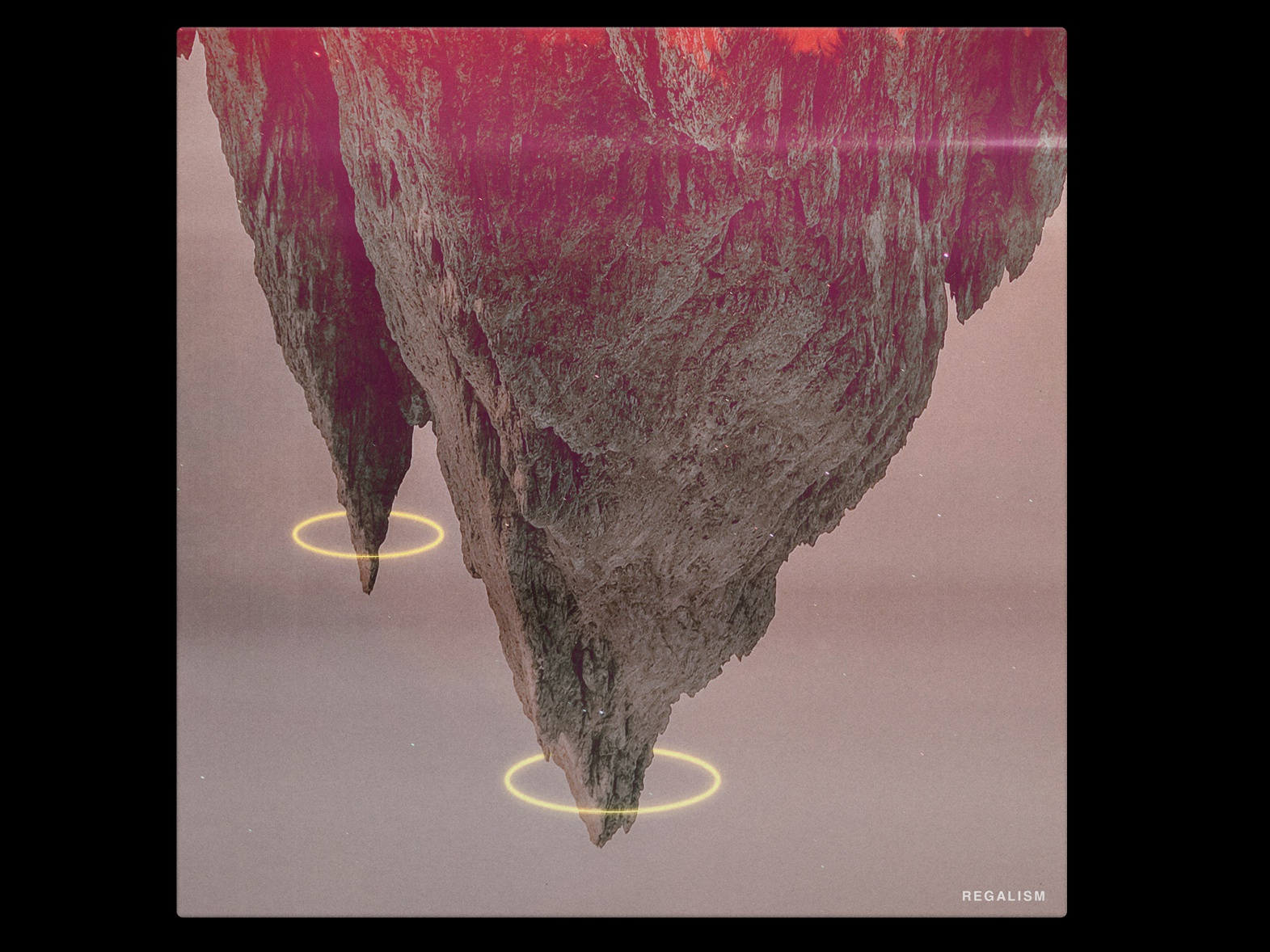 REGALISM mountain regalism red grey pink neon geometry abstract gradiant album album cover design album cover album artwork album art illustration design lachute color kev andré perrin