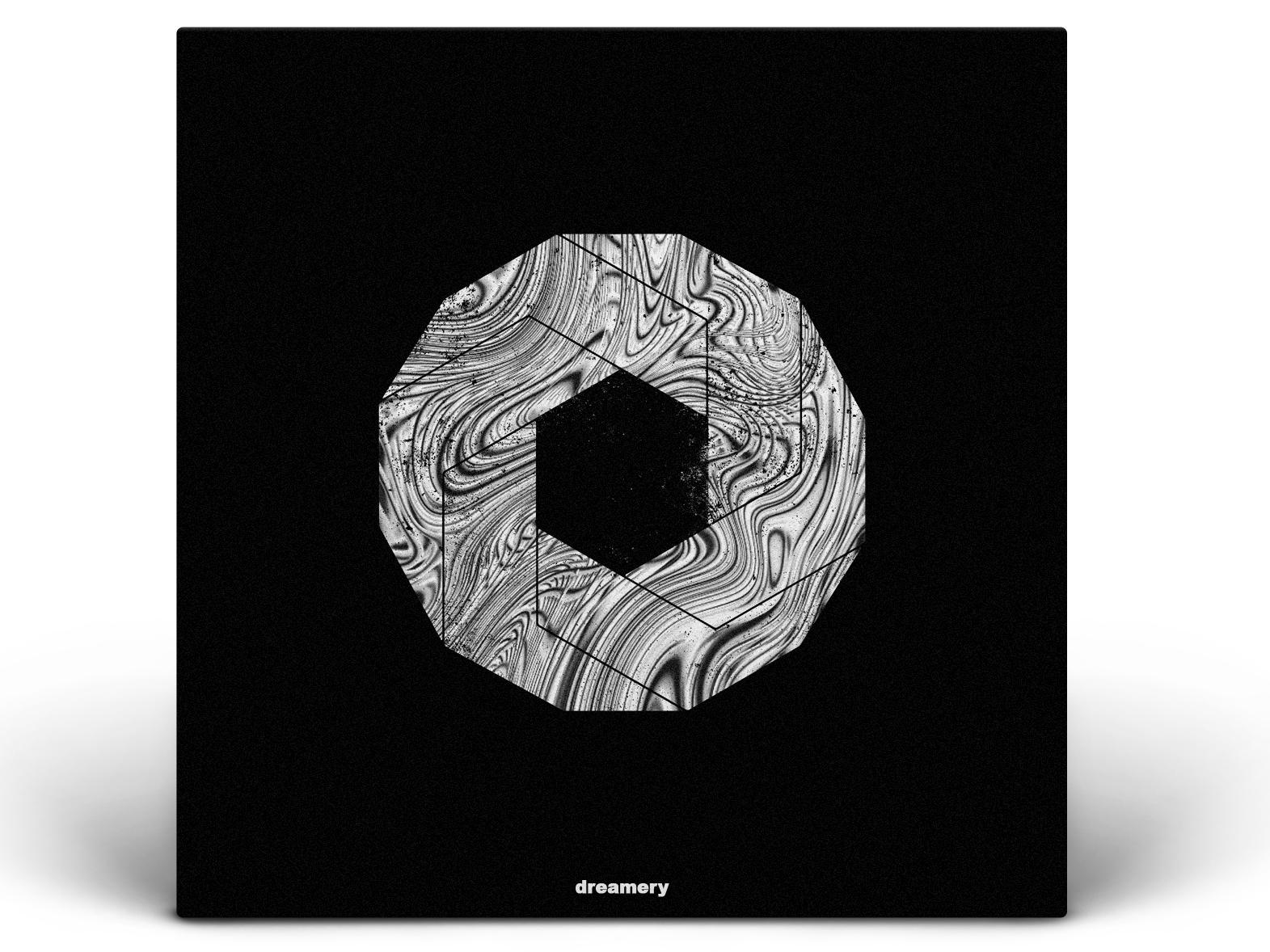 dreamery music metal black  white calm geometry light abstract gradiant album album cover design album cover album artwork album art illustration design lachute