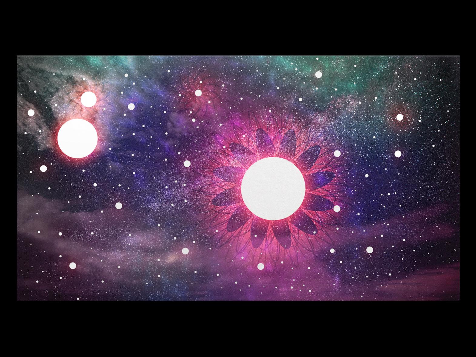 αστρικό ουρανό III photoshop black calm flower neon cloud space light geometry gradiant abstract album cover design album cover album artwork album art album color illustration lachute design