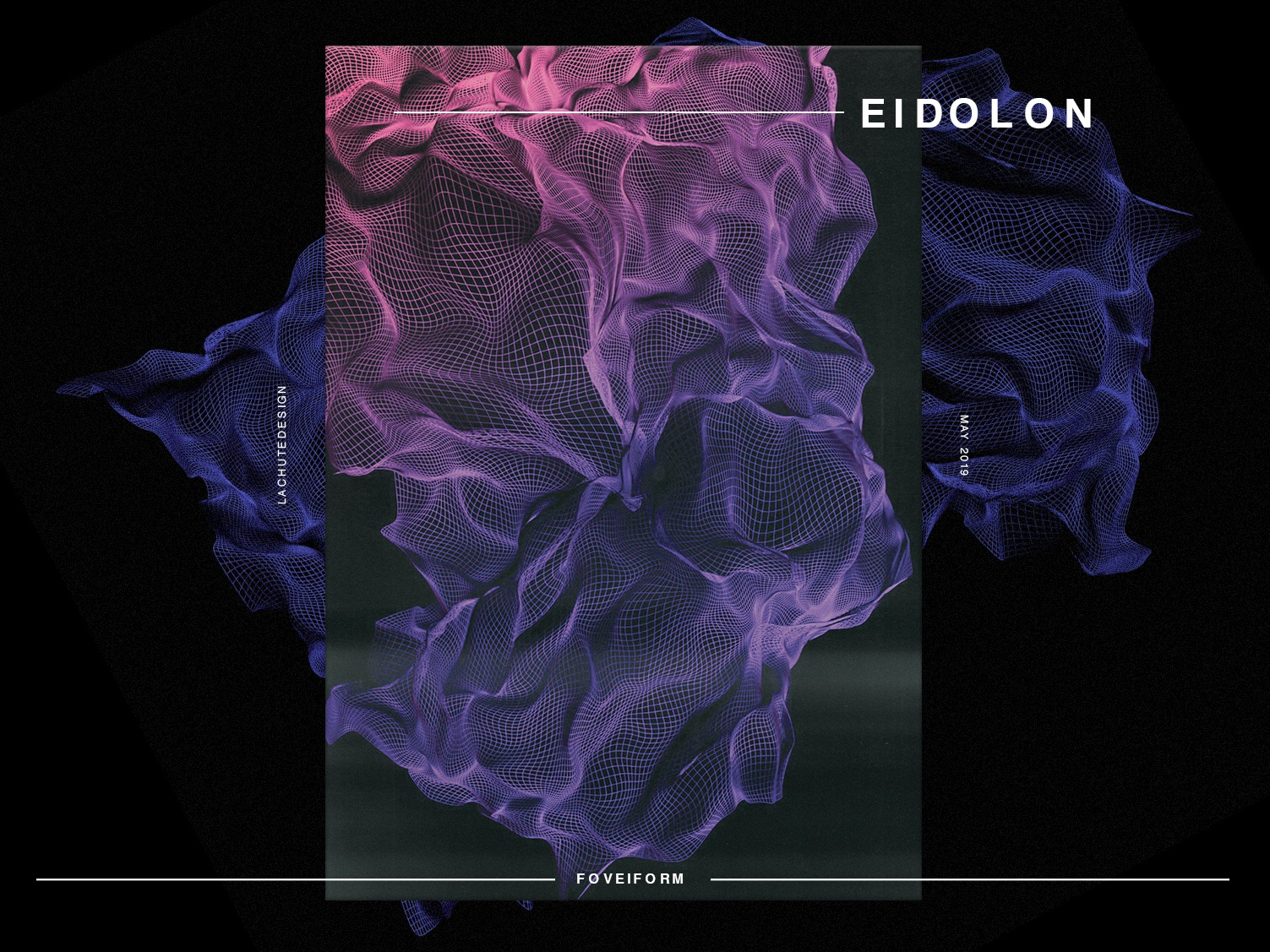 EIDOLON - FOVEIFORM photoshop blender3d 3d art 3d eidolon wireframe space light geometry gradiant abstract album cover design album cover album artwork album art album color illustration design lachute