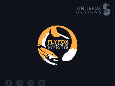 Flyfox Collectibles Logo vector branding fox logo circle loop fox nature wild logo