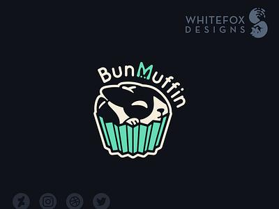 BunMuffin Logo muffin bunny vector branding cute logo
