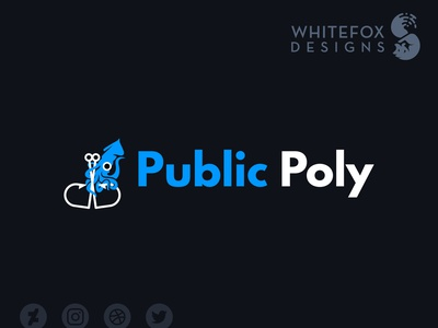 Public Poly Logo hooks tentacles squid vector design nature branding logo