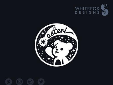 asteri Logo comet stars teddy bear teddy teddybear branding design vector cute logo