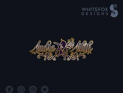 Audra Ailith Logo nature unicorn branding fantasy design vector logo