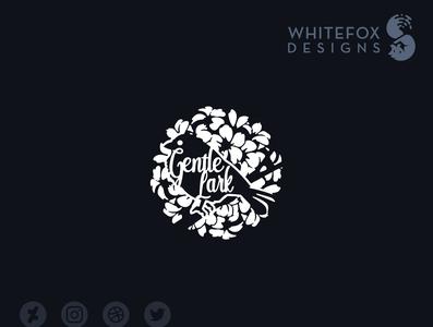 Gentle Lark Logo flower cute bird nature branding design vector logo