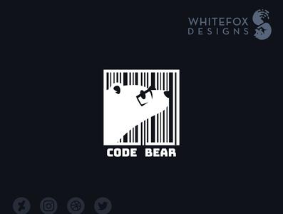 Code Bear Logo code codebar bear nature vector branding design logo