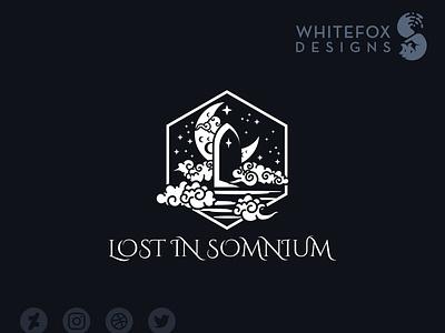 Lost In Somnium graphic design portal door identity design dreams fantasy branding design vector logo