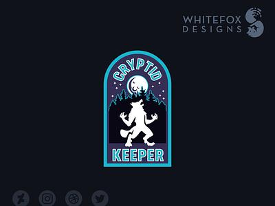 Cryptid Keeper monster criptid badge skinwalker werewolf graphic design identity design branding vector design logo