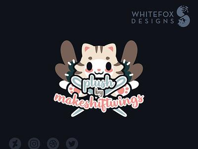 Plush by Makeshiftwings artscrafts sewing plush identity design graphic design branding design vector cute logo