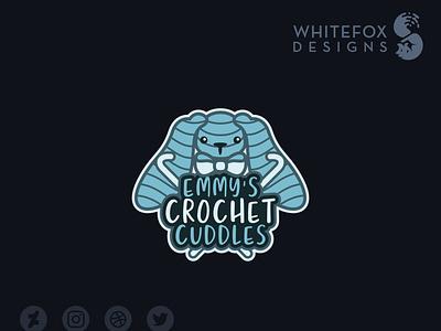 Emmy's Crochet Cuddles crochet bunny identity design graphic design branding design cute vector logo