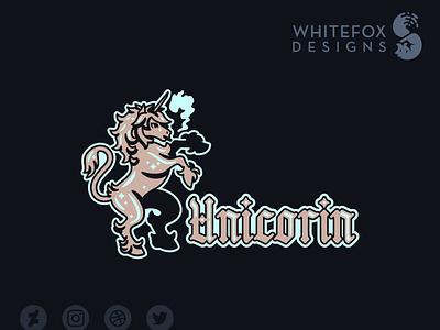 Unicorin identity design unicorn fantasy graphic design branding design cute vector logo