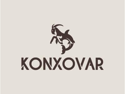 Konxovar Logo dolphin goat merge capricorn