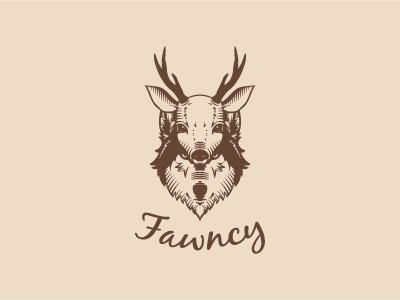 Fawncy Logo fawn fancy wild disguise wolf deer