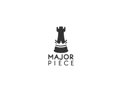 Major Piece Logo piece crown chess rook