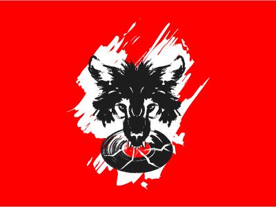Wild Records Logo music vinyl strong bite ferocious wild wolf