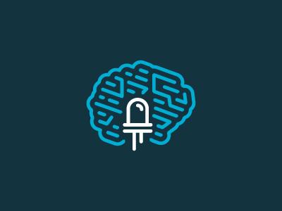 Solderbyte Logo logo electric digital circuits brain light led