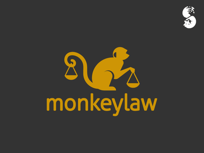 Monkeylaw 3 Logo justice balance law monkey