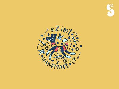 Zimt Logo arts and crafts llama funny cute