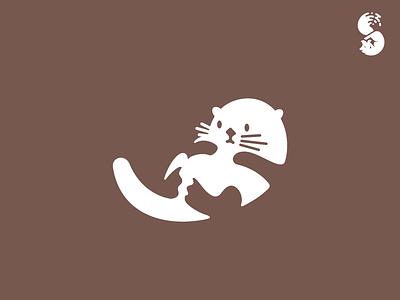 Seeotter Logo sea otter nature cute wild logo