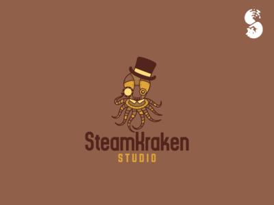 Steamkraken Studio Logo hat oculus steam punk machine monster kraken octopus steampunk logo