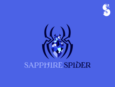 sapphire spider Logo nature logo stone rock jewel sapphire insect spider