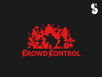 Crowd Control Logo magic orc archer wizard knight watermark fantasy logo