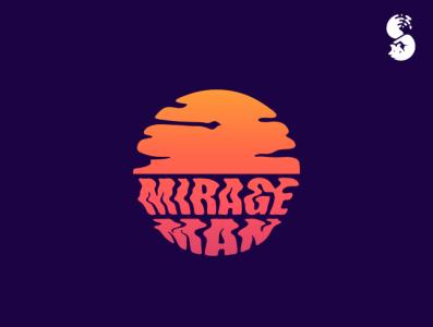 Mirage Man Logo branding identity design desert sun heat mirage sunset logo