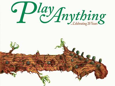 Play Anything ...Celebrating 20 Years Cover graphic design album design album art typography pop punk indie rock illustration design