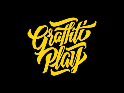 Graffiti Play logo graffiti type calligraphy letterin