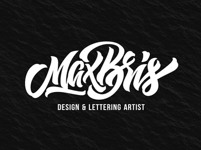 Personal Logo logodesign lettering calligraphy type logo