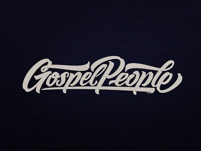Gospel People inspiration brushtype font handlettering brush logo type calligraphy lettering logodesign